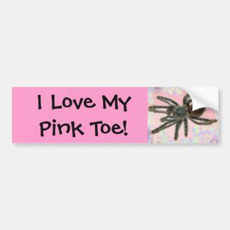 pinktoe bumper sticker