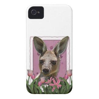 PinkTulipsKangaroo.png iPhone 4 Case-Mate Case