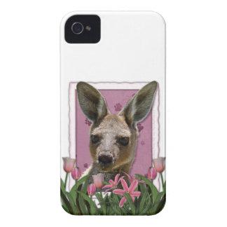 PinkTulipsKangaroo.png iPhone 4 Cover
