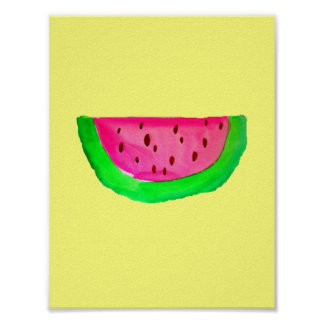 PinkWatermelon Pop Art painting poster