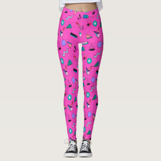 pinky 80's pattern leggings