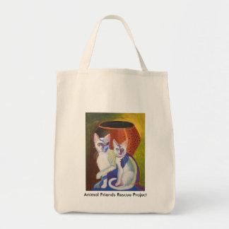 Pinky & Bleu II Tote Grocery Tote Bag