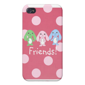 Pinky Bunny & Friends iPhone4 Case Case For iPhone 4