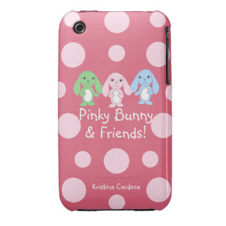 Pinky Bunny Friends iPhone 3GS Case iPhone 3 Case