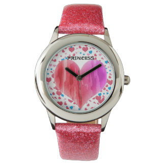 PINKY COLOUR AND PINK PRINCESS WATCH