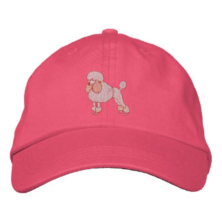 Pinky Dinky Poodle Embroidered Baseball Cap
