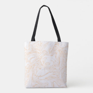 Pinky faux marble texture for trendy girl tote bag