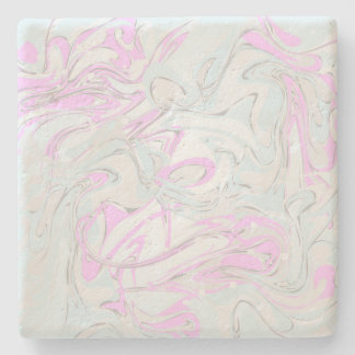 Pinky faux marble texture stone coaster