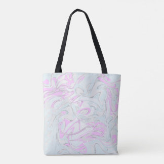 Pinky marble texture for trendy girl tote bag