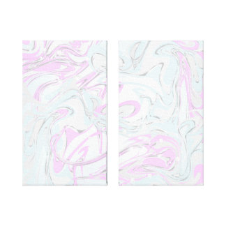 Pinky, mint marble texture for trendy interior canvas print