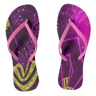 Pinky night flip flops