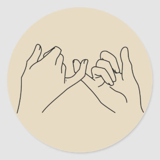 pinky promise classic round sticker
