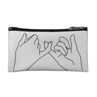 pinky promise cosmetic bag