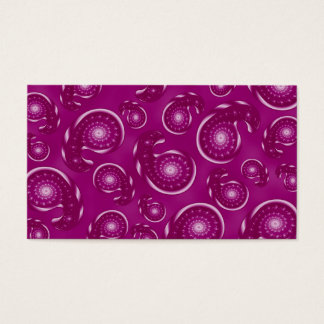 Pinky Purple and Plum Color Paisley Pattern Business Card