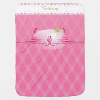 Pinky the Cat Baby Blanket