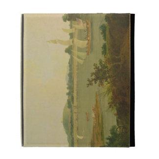 Pinnace Sailing Down the Ganges past Monghyr Fort, iPad Folio Case