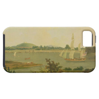 Pinnace Sailing Down the Ganges past Monghyr Fort, iPhone 5 Cover