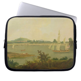 Pinnace Sailing Down the Ganges past Monghyr Fort, Laptop Sleeve