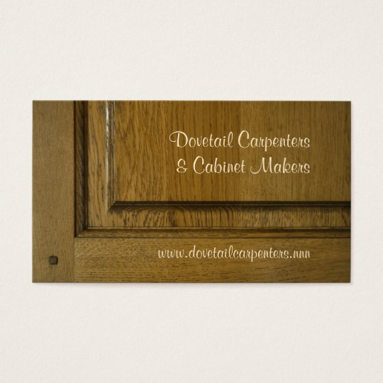 Pinned mortise and tenon joint business card