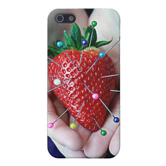 Pinned Strawberry Red Fun Modern Art iPhone 5 Case