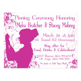 Pinning Ceremony Postcard