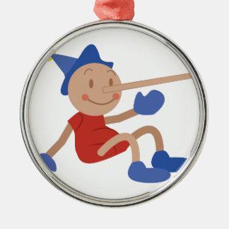 Pinocchio Silver-Colored Round Decoration