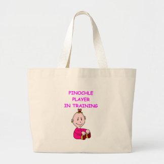pinochle baby jumbo tote bag