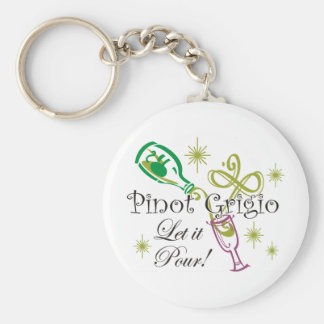 Pinot Grigio, Let it Pour! Key Ring