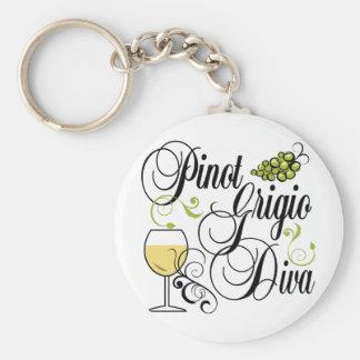 Pinot Grigio Wine Diva Key Ring