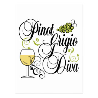 Pinot Grigio Wine Diva Postcard