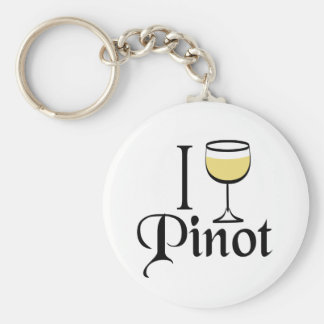 Pinot Grigio Wine Lover Gifts Basic Round Button Key Ring