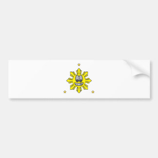 Pinoy Smiling Sun plus Star Bumper Sticker