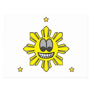 Pinoy Smiling Sun plus Star Postcard