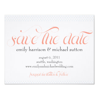 Pinpoint Polka Dots Save the Date Invitation