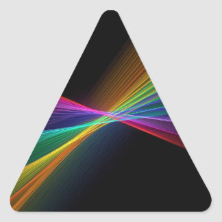 Pinpoint Rainbow Gay Pride LGBT Triangle Sticker