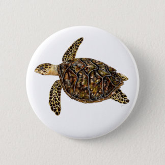 Pins, broaches, plates round marine Turtle sea 6 Cm Round Badge