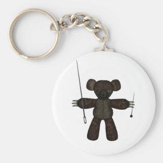 Pins Needles 3D Bear Key Chain