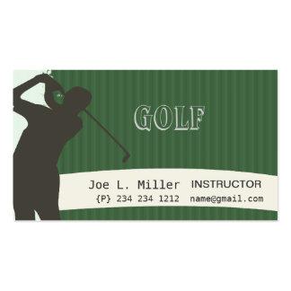 Pinstripe Green Golf Pack Of Standard Business Cards
