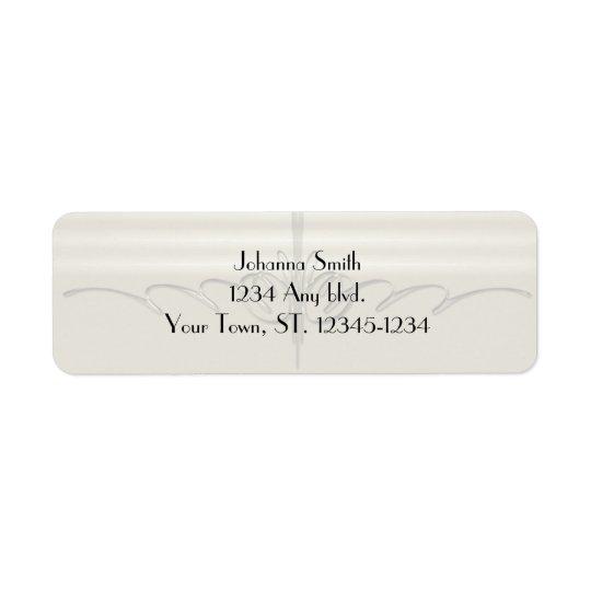 Pinstripe Illusion Wedding address label
