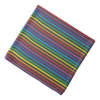 Pinstripe Rainbow Bandana