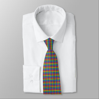 Pinstripe Rainbow Weave Tie