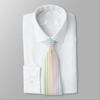 Pinstripe Rainbow White Tie