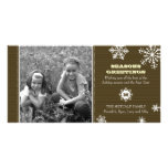 Pinstripe Snowflake Photo Card