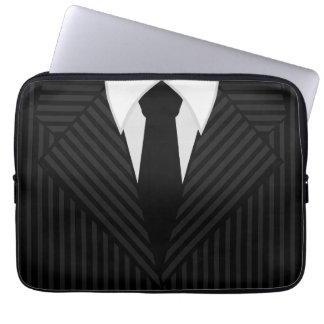 Pinstripe Suit and Tie Cool 13 Inch Laptop Sleeves