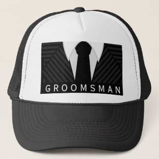 Pinstripe Suit Bachelor Party Groomsman Hat or Cap