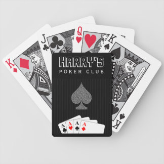 Pinstripe Suit Casino Poker Club Bicycle® Cards