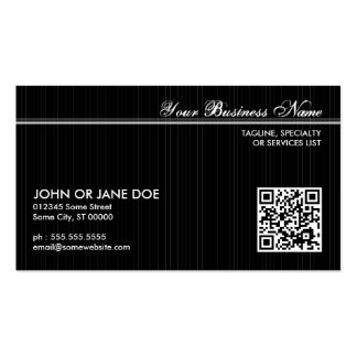 pinstriped QR code Pack Of Standard Business Cards