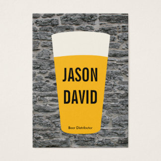 Pint of Beer | Rustic (variation) Business Card