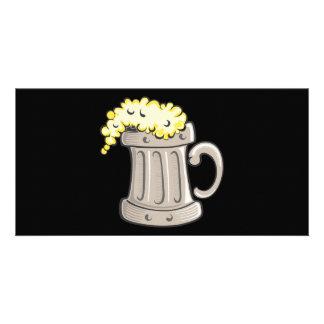 pint-of-beer-vector personalised photo card