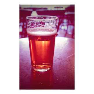 Pint of British ale beer in a pub Stationery